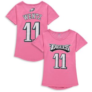 Carson Wentz Philadelphia Eagles Girls Youth Dolman Mainliner Name & Number T-Shirt