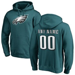 Philadelphia Eagles Any Name & Number Logo Personalized Pullover Hoodie