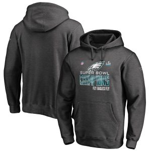 Philadelphia Eagles Super Bowl LII Champions Trophy Collection Locker Room Pullover Hoodie