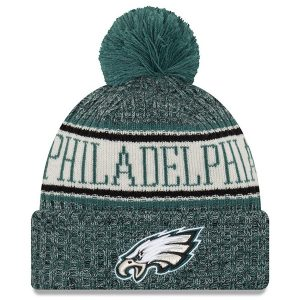 Philadelphia Eagles New Era 2018 NFL Sideline Cold Weather Official Sport Knit Hat