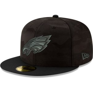 Philadelphia Eagles New Era Camo Royale 59FIFTY Fitted Hat