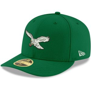 Philadelphia Eagles New Era Omaha Throwback Low Profile 59FIFTY Fitted Hat