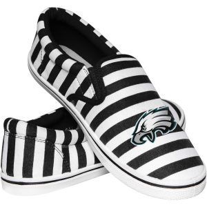 Women's Philadelphia Eagles Striped Canvas Slip-On Shoes