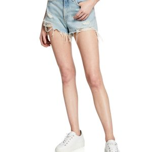 Maya High-Rise Denim Shorts