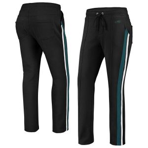 Women's Philadelphia Eagles WEAR By Erin Andrews Black Track Pants